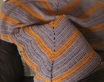 Homemade Triangle shawl