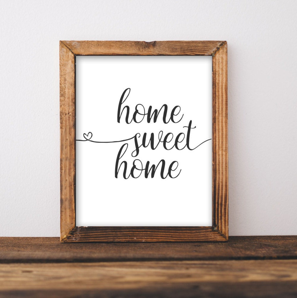 Printable Wall Art Home Sweet Home Printable Art Printables Etsy