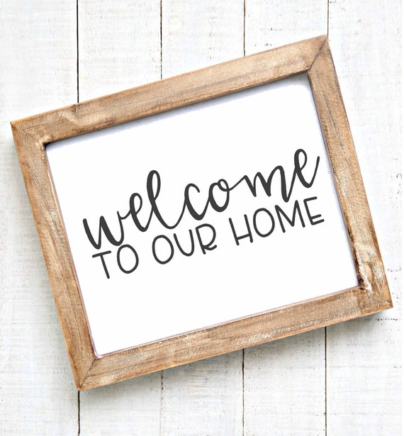 Printable Wall Art, Welcome to our home entryway sign printables home decor  rustic farmhouse gallery wall art living room wall decor gift