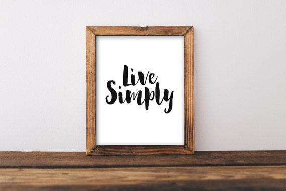 Printable Wall Art 8x10 Live Simply home decor printable   Etsy