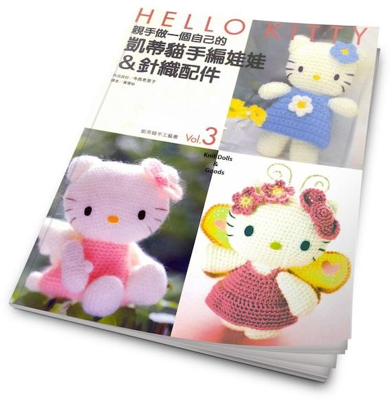 Hello Kitty Knit Dolls Goods Crochet Pattern Japanese Craft Etsy