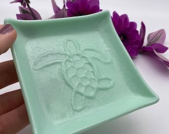Turtle Fused Glass dish