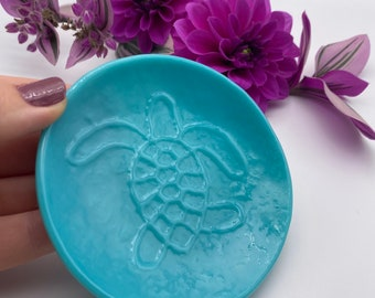 Turtle Fused Glass Ring dish