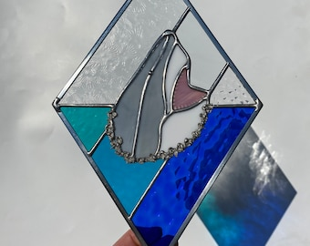 Hungry Shark Stained Glass