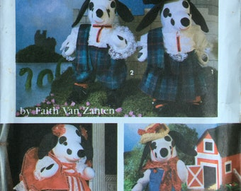 Vintage 1990s Stuffed Animals Crafter/'s Best Friend UNCUT Puppy Dog Tails Finished Size 10 and 5 Krafdee 816 Sewing Craft Pattern