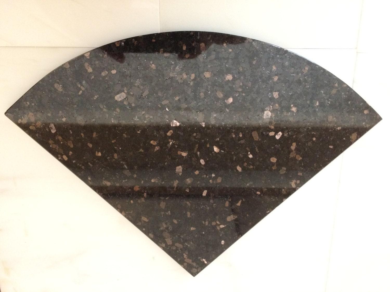 Black Galaxy Natural Stone Corner Shelf Bathroom Caddy