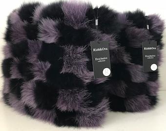 Two decorative pillow 40 * 40 cm made of genuine arctic fox fur