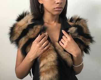 Scarf collar made of natural arctic fox fur
