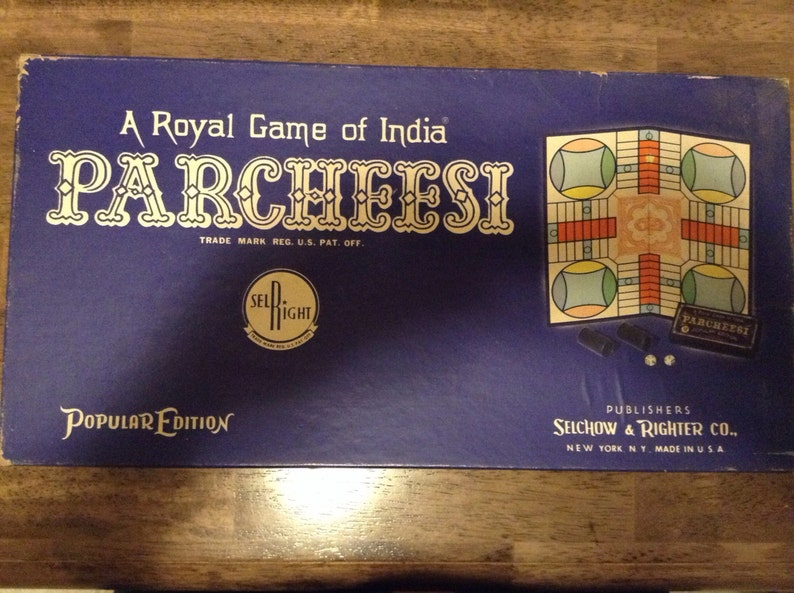 Parcheesi- Selchow & Righter Co  1959 edition