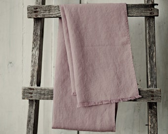 Woodrose soft linen scarf. Linen shawl. Flax scarf. Linen scarves for women. Dusty rose scarves. Stone washed linen. Natural scarves.