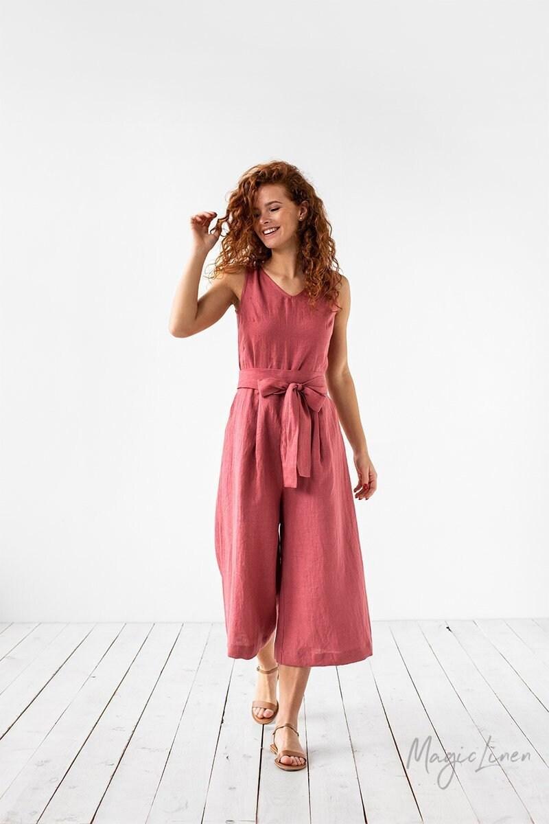 ef4b19d801d Linen jumpsuit VERONA. Linen overalls. Loose linen summer