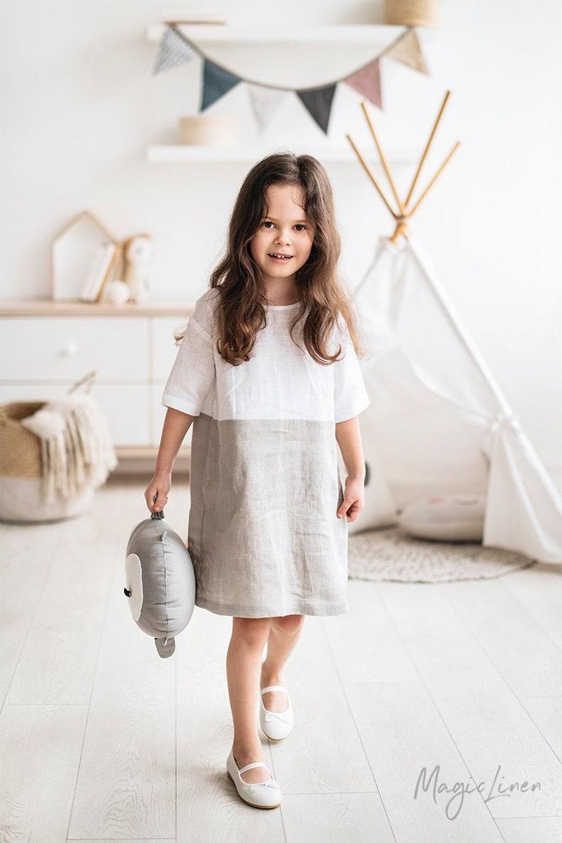 e3621309e9 Girl linen dress ADRIA Mini. Linen dress for girls.