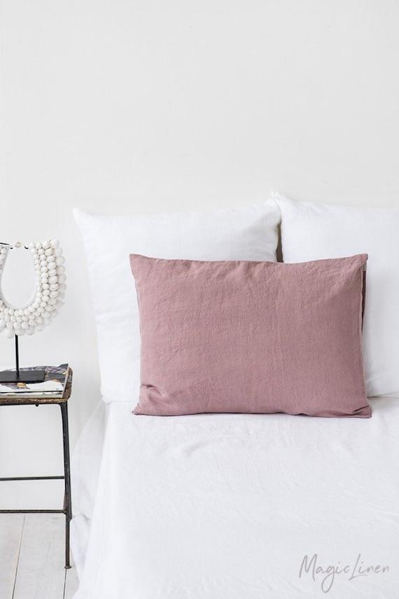 Linen pillow case in Woodrose Dusty