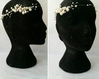 Pearl & crystal woven halo