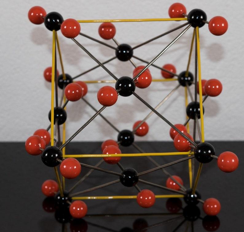 Modèle de structure atomique moléculaire vintage de dioxyde de   Etsy
