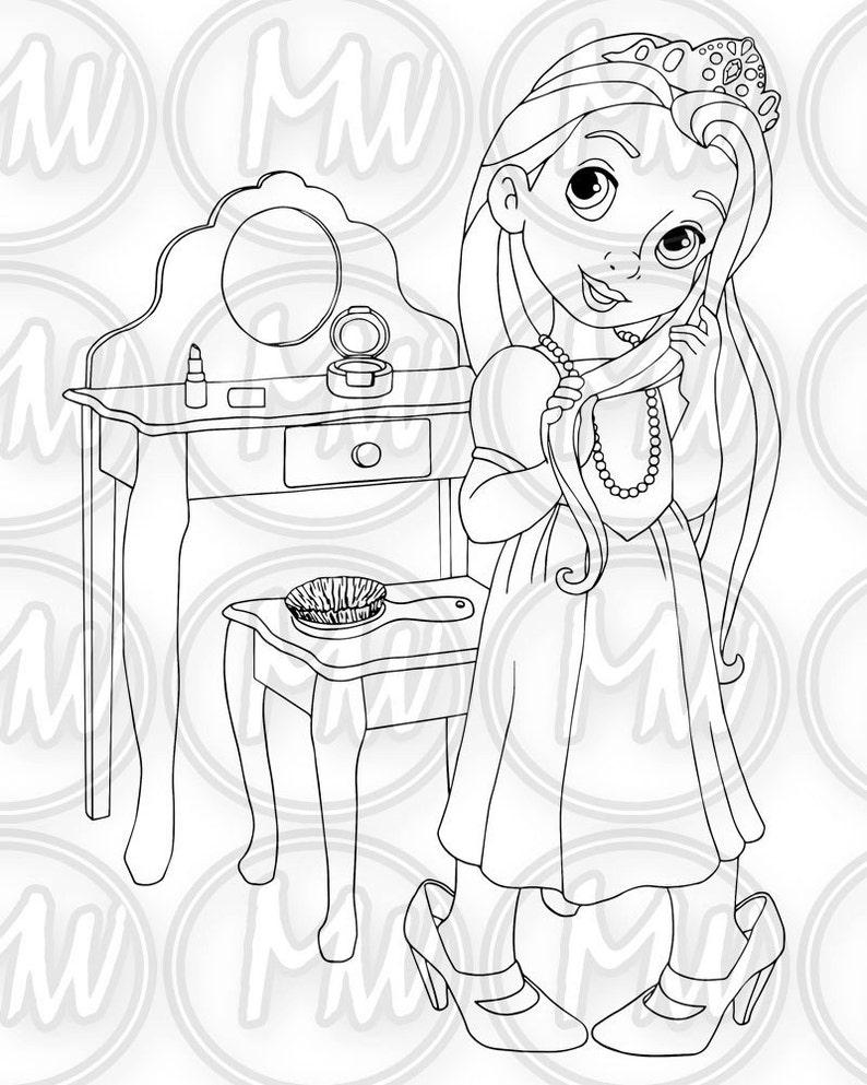 Little Princess stampabili da colorare timbro digitale  4e6083b27992