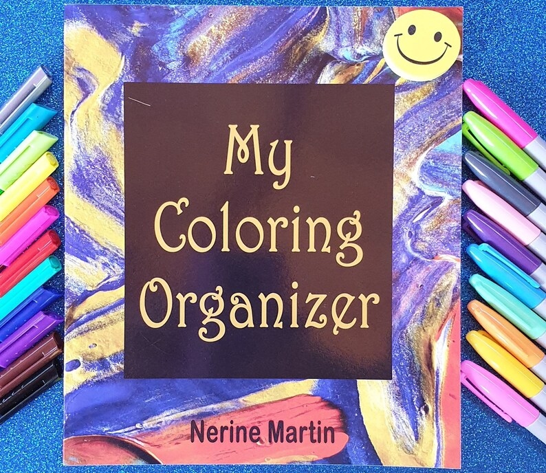 My Coloring Organizer  Printable Adult Coloring Book image 0