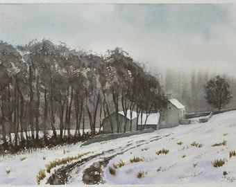 In Winter's Grasp - Original Watercolour Painting