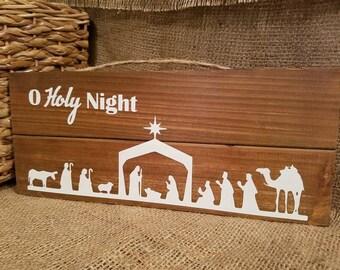O Holy Night Nativity Scene