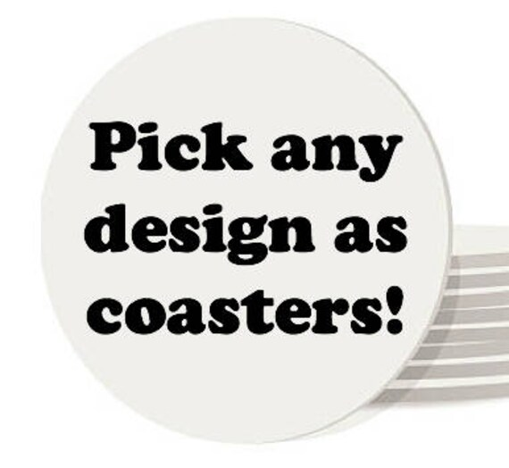 Drink Coasters Pick Any Design In My Shop Glass Coasters Etsy