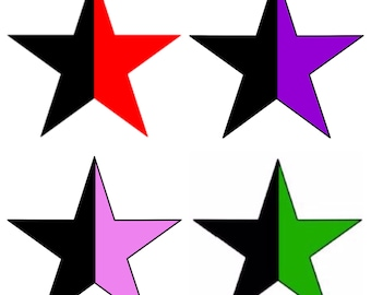 Anarchy star button / Anarcha-feminism / Green anarchism / Anarcho-Syndicalism / Queer anarchism / Anarcho-pacifism