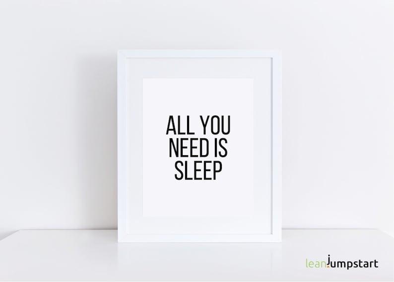 Sleep Quotes Dorm Wall Art Dorm Room Decor Dorm Decor image 0