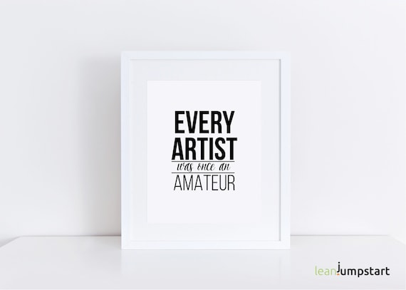 Quote For Artist Artist Quotes Creativity Quote Creativity Etsy