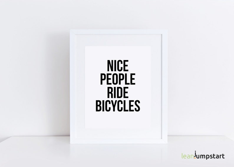 Bicycle Wall Art Bicycle Quote Bike Quote Exercise image 0