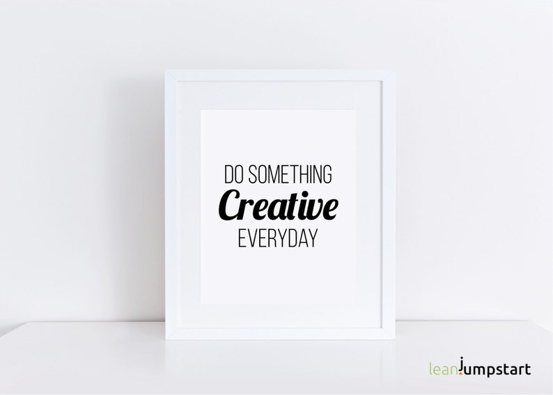 Creativity Quotes, Creative Wall Art, Creative Art Poster, Creativity  Poster, Craft Room Sign, Artist Quotes, Gifts For Artists, Artist Gift
