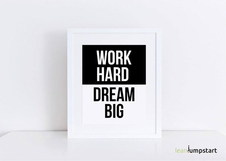 Work Hard Dream Big Work Hard workout quote workout wall image 0