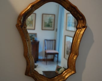 Vintage Wood Gilt Gold Decorative Mirror