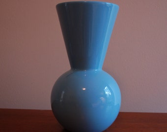 Modern Vase Powder Blue Tall Ceramic
