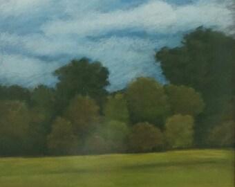 Original pastel landscape, by Sandra Larson,