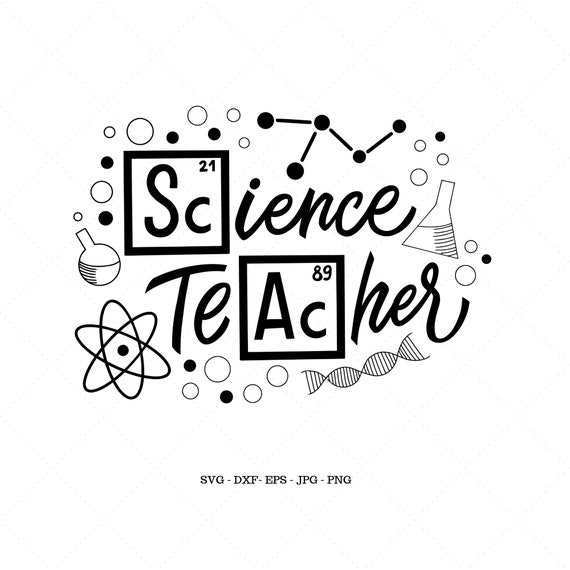 Science Teacher Svg Science Party Science Gift Science Etsy