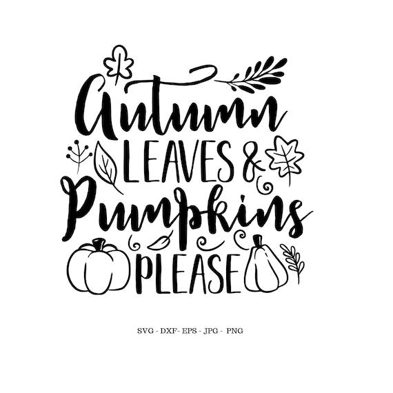 Autumn Clipart Autumn Svg Autumn Leaves And Pumpkins Please Etsy