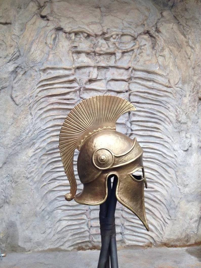 Greek Helmet, Larp Armor, Ancient Corinthian Helmet, Greek Spartan Helmet,  Ancient Armor, Helmet Larp, Helmet Cosplay, Gold Armor, Mask, Art