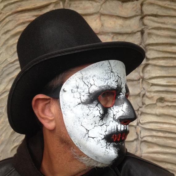Zombie Mask Halloween Mask Masquerade Mask Halloween Mask Zombie Face Chaser Zombie Costume Mask Cylinder Demon Mask Face Mask,Festival Mask