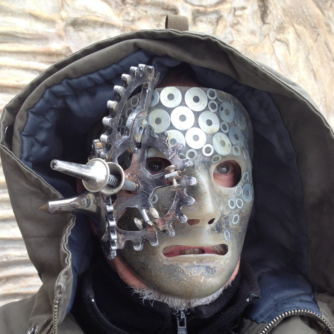 Steampunk Mask,Halloween Mask, Techno Mask, Masquerade Mask, Accessories,  Futuristic, Cybergoth Mask, ace Mask,Parti Mask, Masks for Men