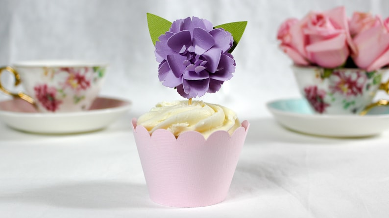 Pink Floral Decor Cake Decorations Easter Cupcake Topper Decorations for Floral Baby Shower Birthday and Wedding