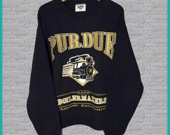 Vintage Purdue Boilermakers Crewneck Sweatshirt Large