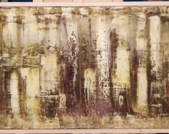 Original Abstract Oil Painting 50cm x 150cm Canvas