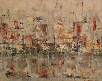 Original Abstract Oil Painting 80 cm x 140 cm Canvas