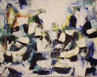 Original Abstract Oil Painting 80 cm x 120 cm Canvas