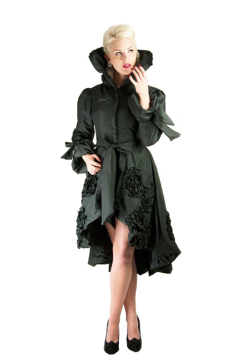 Lolita Long Dress Duchess Coat Long Retro Gothic Coat Womens coat Princess Cut Victorian Black Costume Coat Steampunk Dress