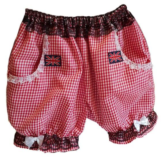 Nouveau Mignon Rouge Blanc Coeurs Short Sissy bloomers pantalon Lolita Party Festival