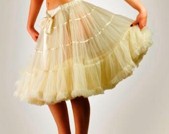 "22"" Inches Luxury Rich Layered Softest Fabrics Skirt Petticoat"