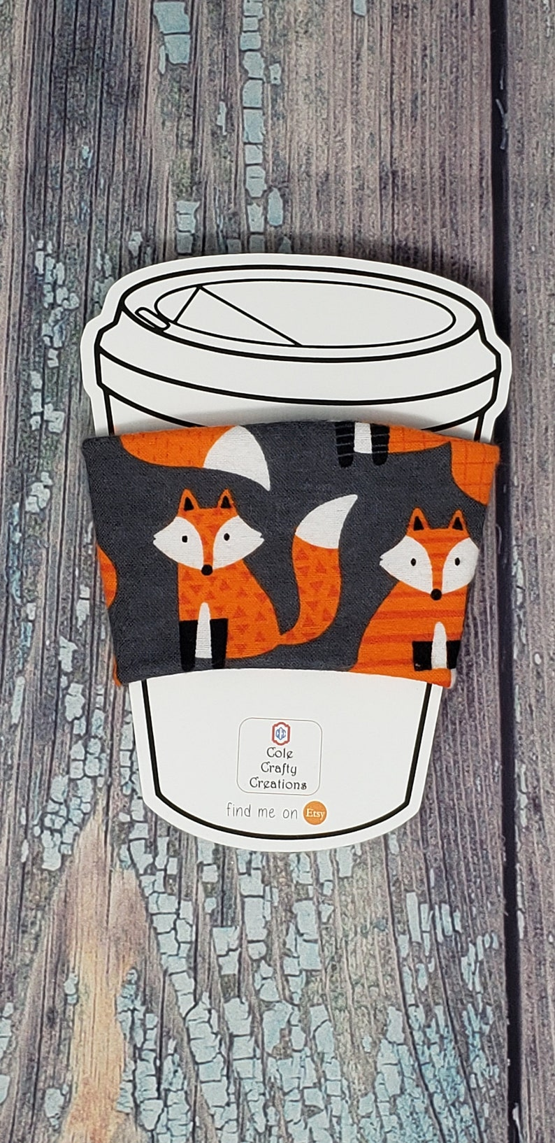 Cute Red Fox Coffee Cozy cozie cup holder drink holder image 0