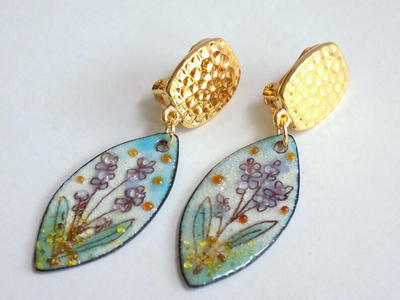 Clip on Earrings Statement Earrings Gift for Her Boho Earrings Gift for Women Dangle Earrings Gold Earrings Boho Jewelry Birthday Gift