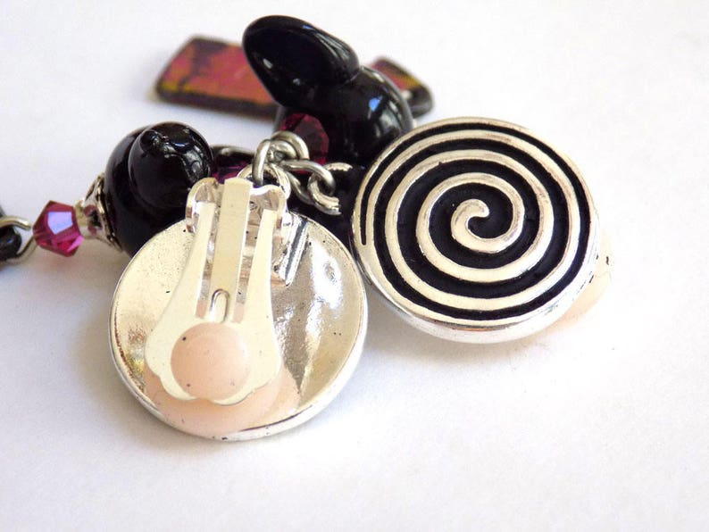 Clip on Earrings Silver Earrings Gift for Her Boho Earrings Gift for Women Handmade Jewelry Statement Earrings Birthday Gift Beaded Earrings