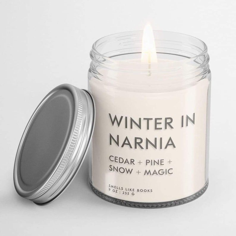 WINTER IN NARNIA Soy Candle Narnia Gift Narnia Candle Book image 0